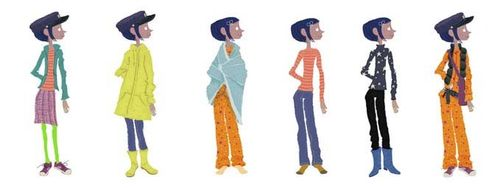 Coraline costume sketches