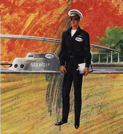 Tomorrowland submarine costume illustration