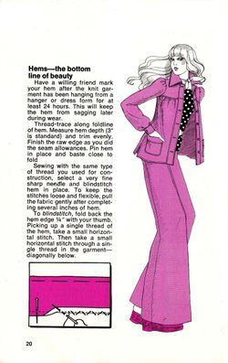 How to sew a knit hem 70s