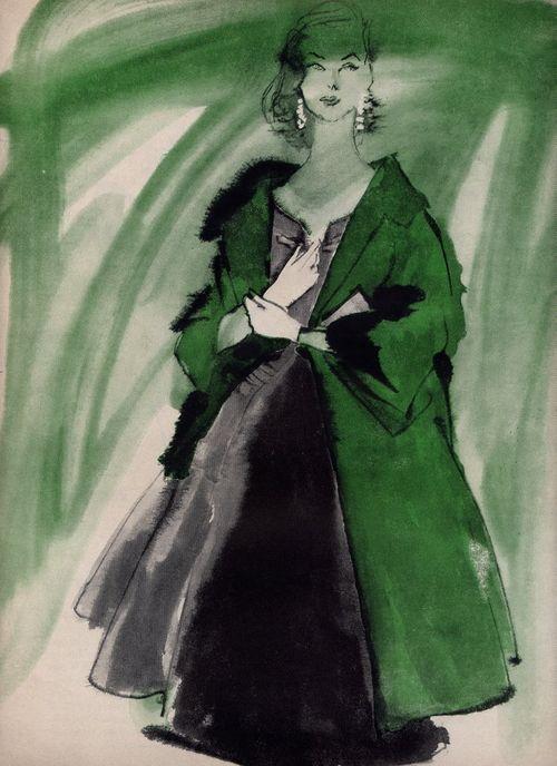 50s green fashion