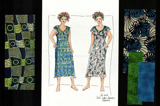 Ladies Detective Agency costume sketch