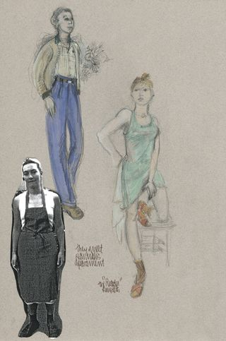 Reader Ann Roth costume sketch