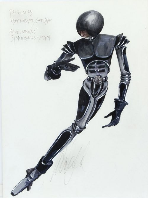Spaceballs costume sketch