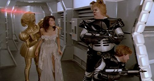 Spaceballs fighting princess